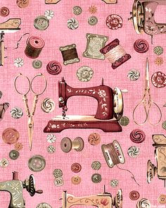 sewing machine with sewing supplies