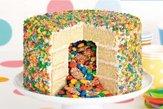 No Birthday celebration is complete without this cracker of a Cake on your table. This Pinata Cake has a surprise inside and it's easy to recreate once you know how. This will certainly be the talk of your celebration!