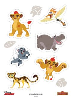 5 pages---- http://disneyjunior.disney.co.uk/the-lion-guard/makes/fathers-day-lion-guard-badge