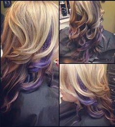 Pretty Purple Highlights on Curly Blond Long Hair 2016 - See more at: http://www.fulldose.net/pretty-purple-highlights-on-curly-blond-long-hair-2016/#sthash.ArF20tlE.dpuf