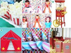 A circus party is a blast for every age, child and adult, and is especially fun to plan. There are so many creative circus themed things you can do from th Adult Circus Party, Vintage Circus Party, Circus Theme Party, Carnival Birthday Parties, Circus Birthday, Party Themes, Party Ideas, Madagascar Party, Kids Party Planner
