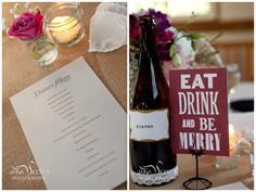 wine bottles with table numbers  from the desk: Table Talk