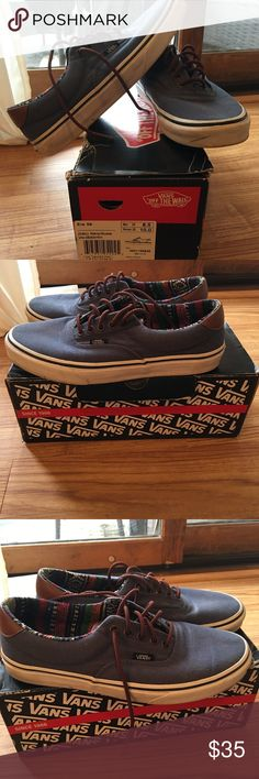 Vans Worn vans can easily be cleaned up shoes were released in 2010 men's size 8.5 Womens 10 Vans Shoes Sneakers