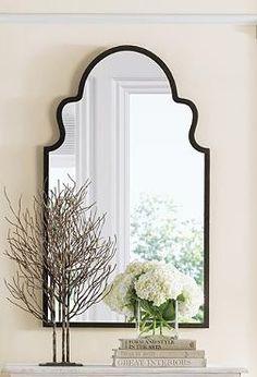 Brayden Arch Mirror - Grandin Road I love this mirror. Foyer perhaps? Moroccan Mirror, Moroccan Bedroom, Moroccan Lanterns, Moroccan Interiors, Art Niche, Niche Decor, Wall Decor, Wall Art, Arch Mirror