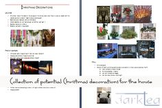 Christmas decoration ideas to implement over a few years in our new house (once we know where the walls will be).