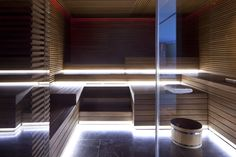 Conservatorium Hotel in Amsterdam's Museum Quarter is a luxury design hotel with Akasha Spa, gym, pool, Tunes Restaurant, luxurious rooms and exclusive suites. Design Sauna, Wellbeing Centre, Spa Lighting, Lighting Design, Most Luxurious Hotels, Leading Hotels, Spa Rooms, Best Spa, Wellness Spa