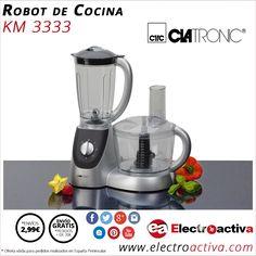¡Cocina platos ricos y saludables! Robot de cocina CLATRONIC KM 3333 http://www.electroactiva.com/clatronic-robot-de-cocina-km-3333.html #Elmejorprecio #RobotdeCocina #Electrodomesticos #PymesUnidas