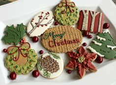 Country Christmas Cookies - Click image to find more Other Pinterest pins