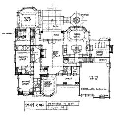 House Plans at the Drawing Board on Pinterest - Full Kitchen Planing Drowing