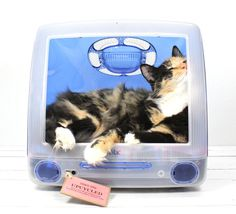 """Upcycled Apple Computer Pet Bed - iMac - """"Think different"""""""