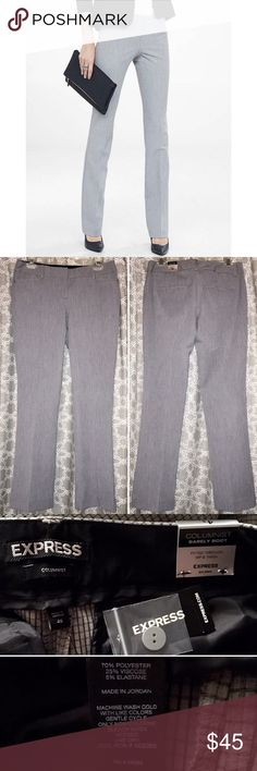 [express] grid print barely boot columnist pant • style name: grid print low rise barely boot columnist pant • dress pant in a comfy, super lightweight fabric • see above for details from company website • condition: new with tags, never worn, did not fit and return time passed ____________________________________ ✅ make an offer!     ✅ i bundle!                      ✅ posh compliant closet ⛔️ no trades Express Pants Boot Cut & Flare