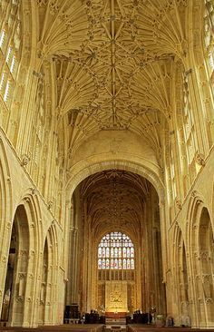 Sherborne Abbey, Dorset, England, dates from 705 when it was a Saxon Cathedral , a Benedictine  Abbey in 998 and now a Parish church.