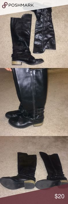 Black boots Black boots worn but good condition few minor scuffs Arizona Jean Company Shoes Combat & Moto Boots