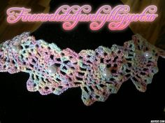 Crochet rainbow necklace http://www.finecrochetedjewelry.blogspot.ro/