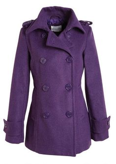 Peacoats Purple and Pea coat on Pinterest