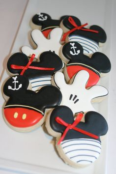 Nautical Mickey Themed Vanilla Sugar Cookies//1 by bakedperfection, $36.00