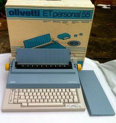 Olivetti typewriter by Mario Bellini. I had this.