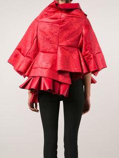 Comme Des Garçons asymmetric layered voluminous jacket