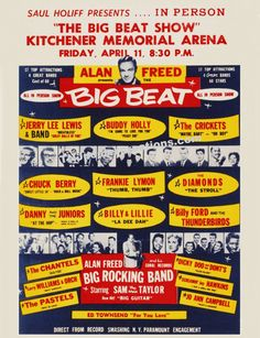 Alan Freed Rock&Roll Show 1958 Kitchener Ontario Canada Buddy Holly Chuck Berry by MyGenerationShop on Etsy