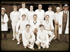 The Downton Abbey cricket team.