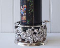 Silver Plate Bottle Coaster Godinger Silver Art by RamblinRanch