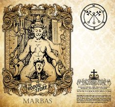 Candle Label - Marbas (Barbas) - The Vodou Store Creatures Of The Night, Weird Creatures, Mythical Creatures, Chinese Demon, Greek Mythological Creatures, Banana Art, Werewolf Art, Celtic Warriors, Satanic Art