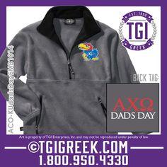 TGI Greek - Alpha Chi Omega - Dad's Day - Pull Overs #tgigreek #alphachiomega