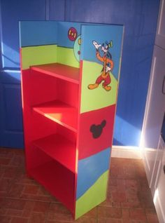 Storage Unit Personalized Bookcase Super Hero S Bedroom Familiar Disney Characters On Mickey Mouse