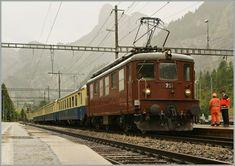 100 Jahre BLS : Damit die BLS Ae 4/4 251 doch noch ohne  störende  Schirme bewundert werden kann, habe ich dieses Bild eingestellt. 29. Juni 2013 Swiss Railways, Light Rail, Train Car, Commercial Vehicle, Locomotive, Switzerland, Around The Worlds, City, Trains