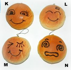 Kawaii Love | JUMBO Emotion Squishy Buns | Squishies, Indie Brands, Keychains, Buns, Charms, Kawaii, Awesome, Stuff To Buy, Key Hangers