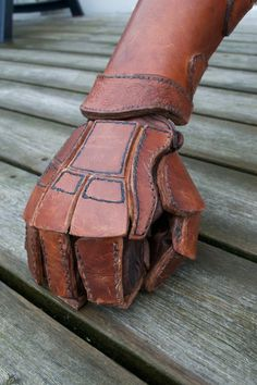 Leather fighting glove and vambrace 2 by TheDutchViking