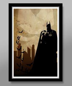 Batman Minimalist Movie Poster - 13 X 19 Home Decor