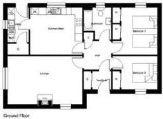 Kit Homes - Norscot Kit Homes, Floor Plans, Cottage, Bed, Stream Bed, Cottages, Beds, Cabin, Floor Plan Drawing