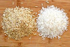 Brown vs. white rice  | Image source: Freshpalatend.com