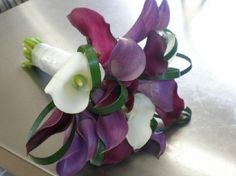 My bridesmaids flowers purple calla lilies   9.11.10