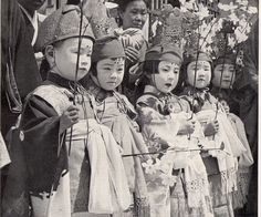 Japanese Children Celebrating Buddha's Birthday    Japan c. early 1950s