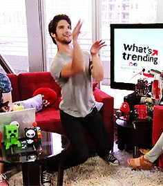 He's amazing at being a T-rex: | 27 Reasons Tyler Posey Is The Most Sexdorable Actor Out There