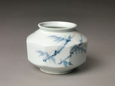 """Faceted jar decorated with plum blossoms and bamboo, end of the 18th–early 19th century. Joseon dynasty (1392–1910). Korea. The Metropolitan Museum of Art, New York. Purchase, Moon Art Foundation Gift, 2005(2005.123) 