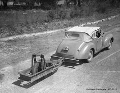 Roughometer - A tool used for testing road surfaces 1947 Victoria. VicRoads Centenary 1913-2013.