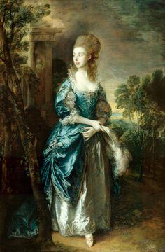 Thomas Gainsborough Painting of Mrs. Duncombe, Frick Museum of Art