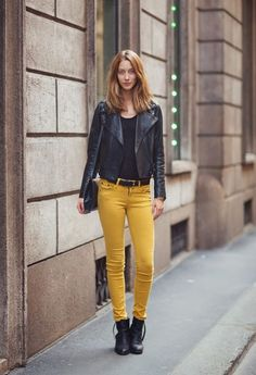 342f150c Perfecto para ir a la univerisdad by vilzzie on Chicisimo Mustard Jeans,  Look Jean,