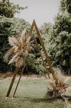 Pampas Grass and a Boho Arch gives yyour ceremony a modern boho feel while also adding a moody feel! Wedding Arbors, Wedding Ceremony Arch, Wedding Backdrops, Ceremony Backdrop, Wedding Aisles, Wedding Ceremonies, Outdoor Ceremony, Arbors For Weddings, Wedding Arbor Decorations
