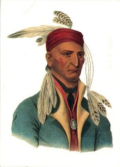 UNITED STATES - The Ojibwe (Chippewa) people - Chief Shingabawossin, 1826