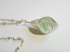 Seafoam Sea Glass + Silver Flower Droplet www.madmysha.com