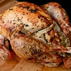Food Lab - Easy Herb-Rubbed Roast Turkey With Stuffing and Giblet Gravy Roast turkey with an easy gravy to boot. This is the recipe for you if you bake your stuffing outside the bird and you don't want to bother with any fancy butchering. Thanksgiving Turkey, Thanksgiving Recipes, Holiday Recipes, Christmas Turkey, Holiday Meals, Christmas 2014, Christmas Stuff, Christmas Ideas, Dinner Recipes
