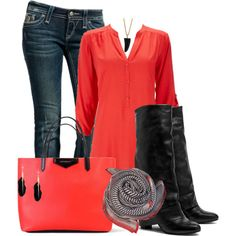 Striping Coral, created by christina-young on Polyvore