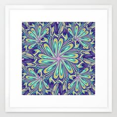 Artistic abstract design with fantasy floral patterns Framed Art Print