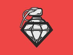 Granade + Diamond + Spray Cap | illustration by Roberto Quiñones, via Dribbble