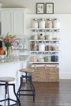 Knittering In Appalachia™ | 13 Farmhouse Kitchen Organization and Storage Ideas | http://www.knitteringinappalachia.com
