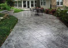 Backyard Concrete Patio Ideas patio Slate Stamped Concrete Patio Concrete Patio Designsstamped Concrete Patiospatio